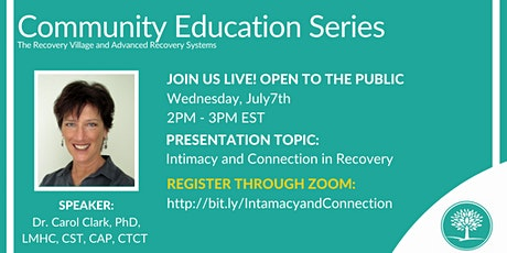 Community Education Series: Intimacy and Connection in Recovery tickets