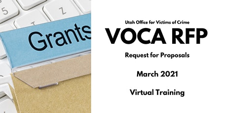 Utah Office for Victims of Crime 2021-2023 VOCA RFP tickets