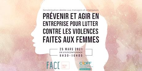 Violences faites aux femmes : prévenir et agir en entreprise billets