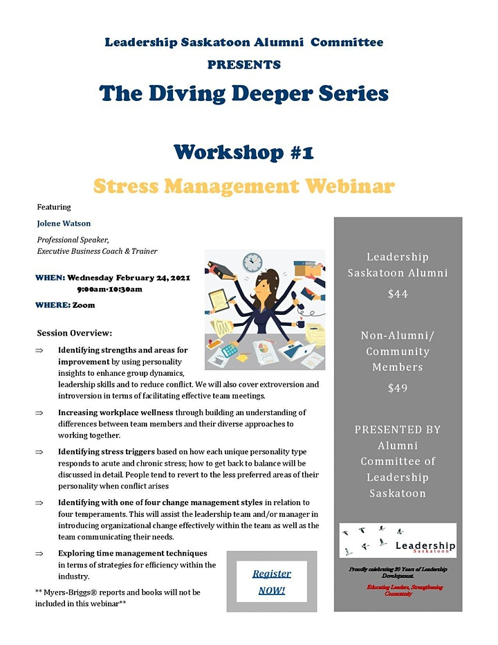 The Diving Deeper Series: Stress Management Webinar image