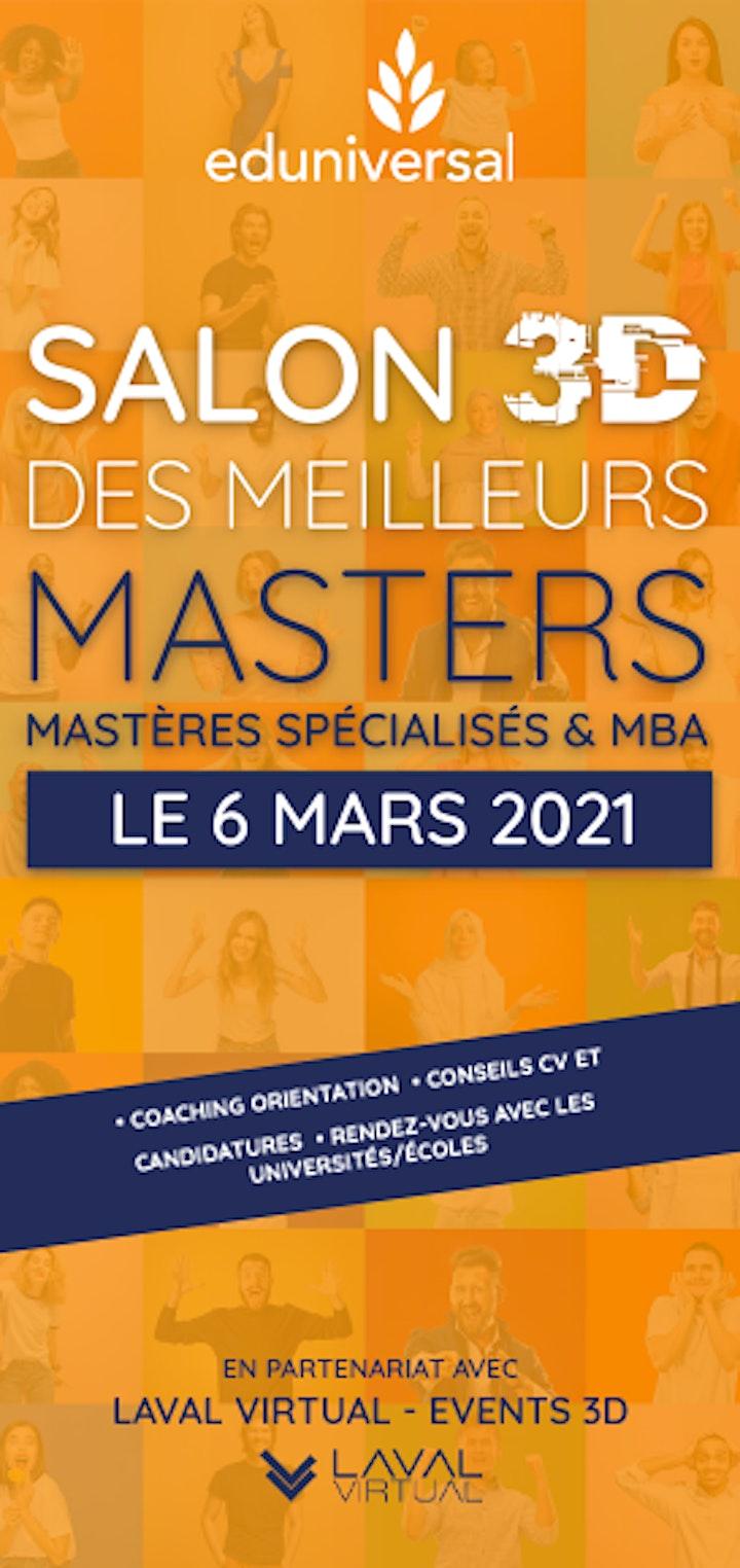 Image pour Salon virtuel Eduniversal des Meilleurs Masters - 100% en 3D,  6 mars 2021