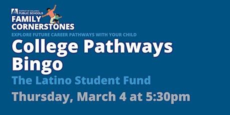 Family Cornerstones - College Pathways Bingo tickets