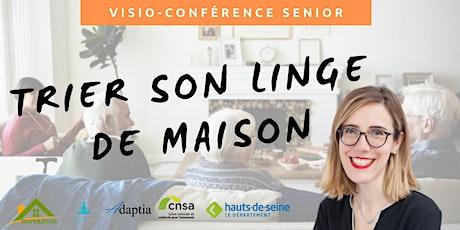 Visio-conférence senior GRATUITE -  Trier son linge de maison billets