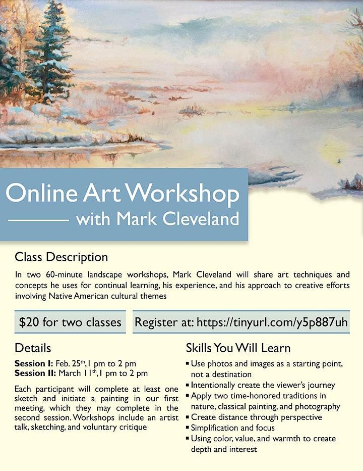 Online Art Workshop with Mark Cleveland image