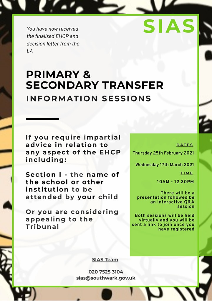 Primary and Secondary School Transfer  - Information Session image