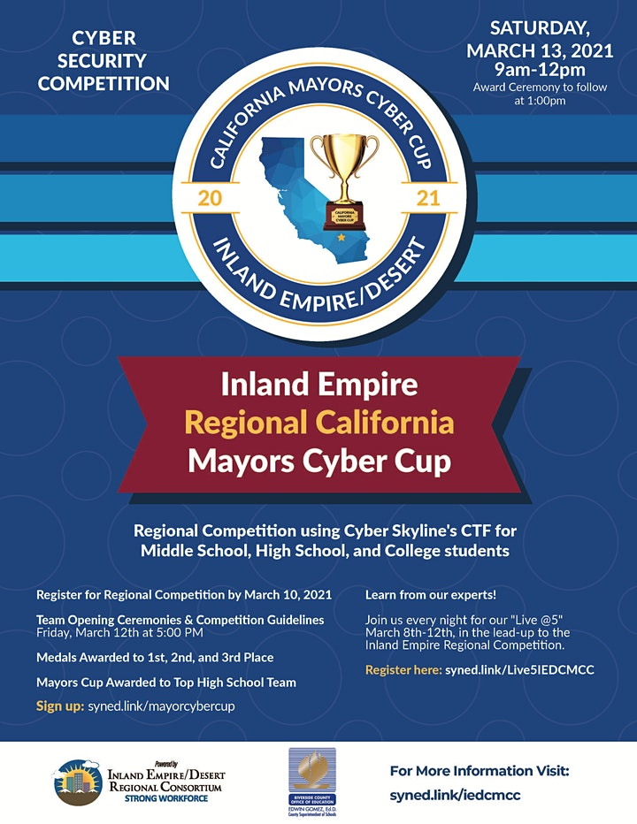 Inland Empire California Mayors Cyber Cup Game Registration image