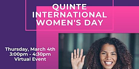 Quinte International Women's Day Tickets