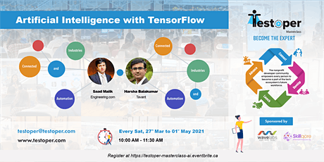 MasterClass -Artificial Intelligence with TensorFlow starts on 27 Mar 2021 tickets