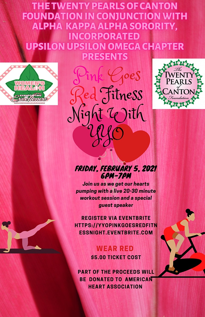 Pink Goes Red Fitness Night With YYO image