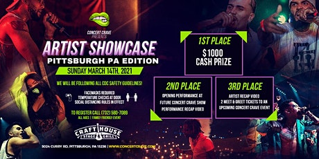 Concert Crave Artist Showcase - PITTSBURGH, PA 3.14.21 tickets