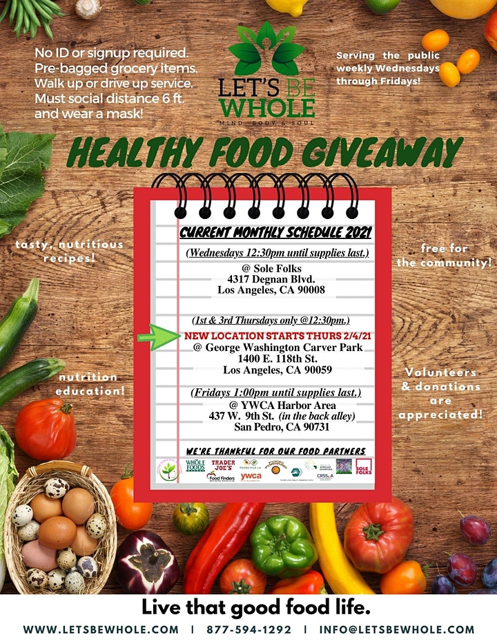 Let's Be Whole Healthy Mobile Food Pantry/Leimert Park image