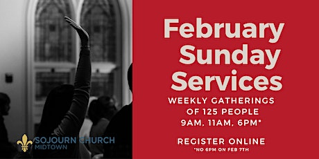 February 28,2021  Sunday Service Registration tickets