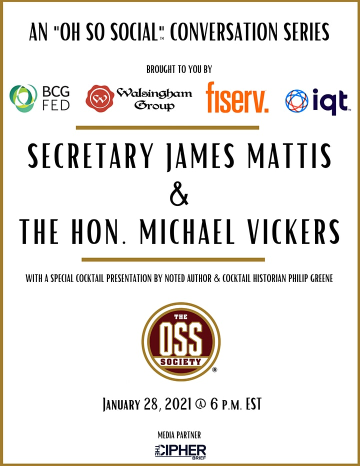 "An ""Oh So Social"" conversation between Sec. Jim Mattis and Dr. Mike Vickers image"
