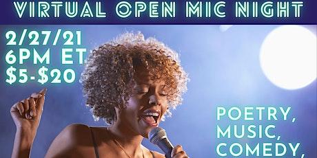 Virtual Open Mic Night: Honoring Black History tickets