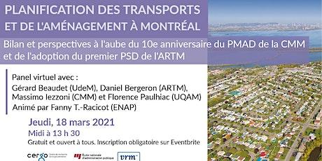 Bilan et perspectives de planification régionale à Montréal - Table ronde billets