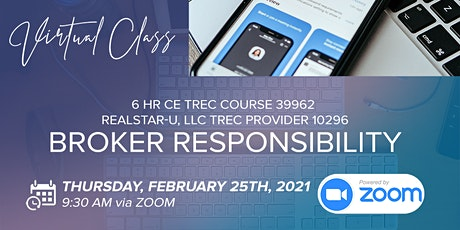 Broker Responsibility TREC Course #39962 tickets