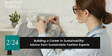 Building a Career in Sustainability: Advice from Fashion Experts tickets