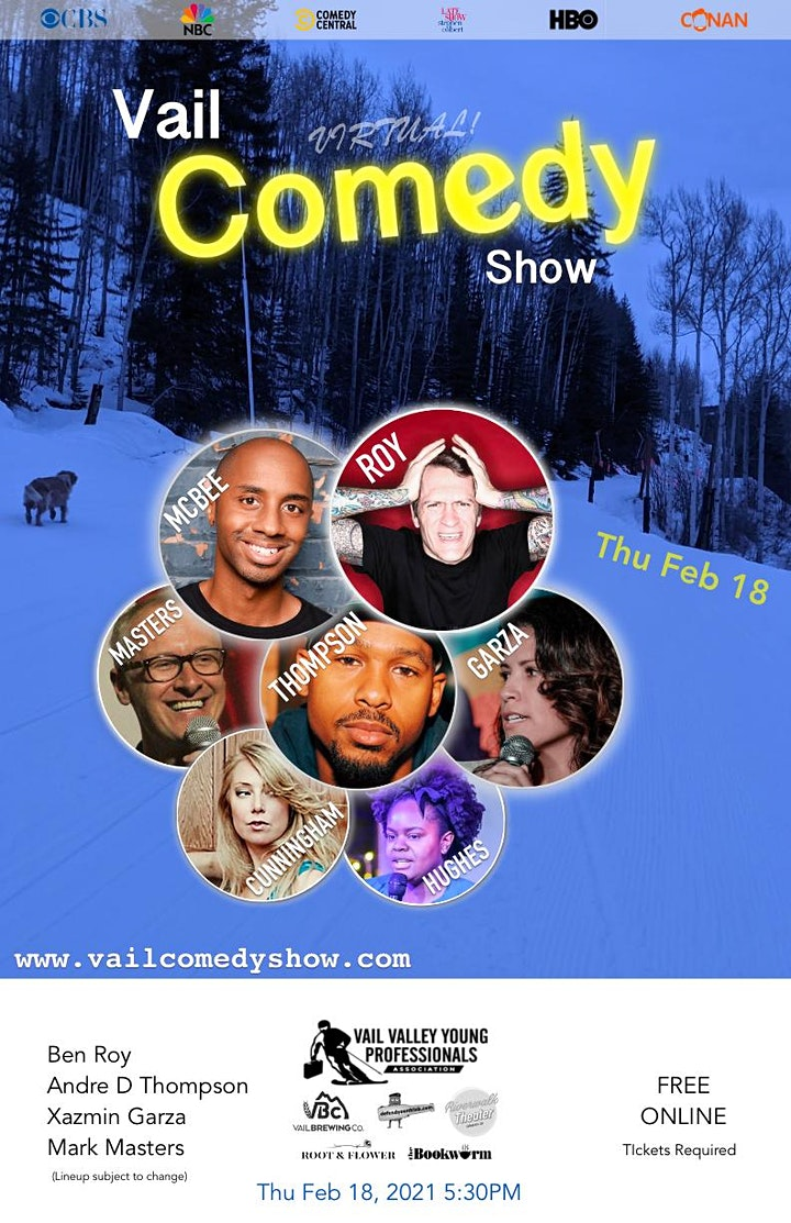 Vail Comedy Show (Online) - February 18, 2021 image