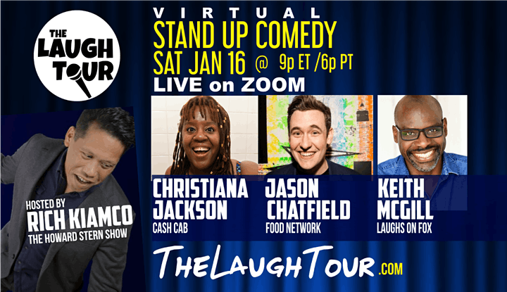 The Laugh Tour: VIRTUAL Stand Up Comedy via ZOOM image