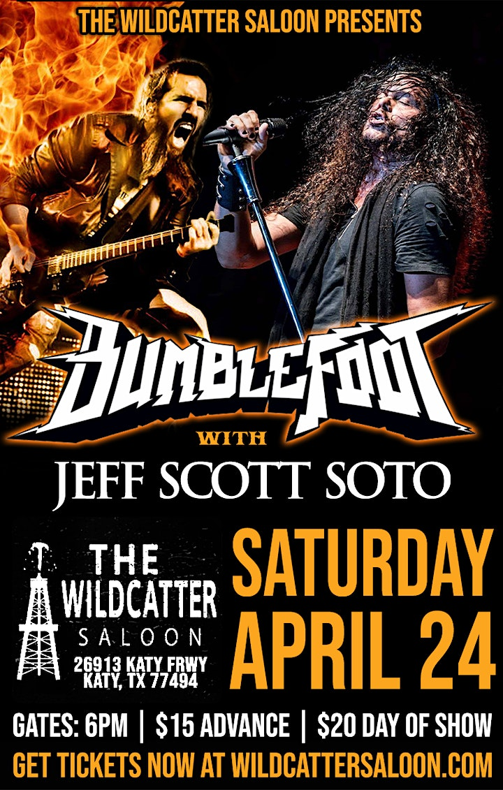 BUMBLEFOOT with JEFF SCOTT SOTO at The Wildcatter Saloon image