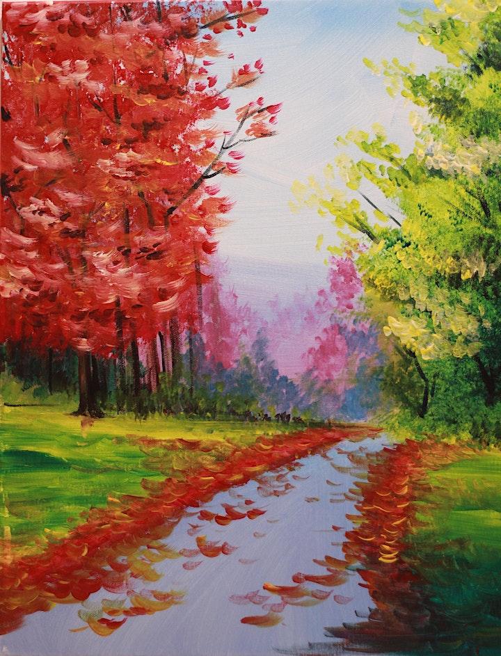 Chill & Paint Friday Night  Auck City Hotel  - Autumn Trees image