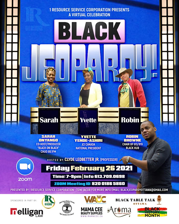 Black History Month Event 2021- Black Jeopardy image