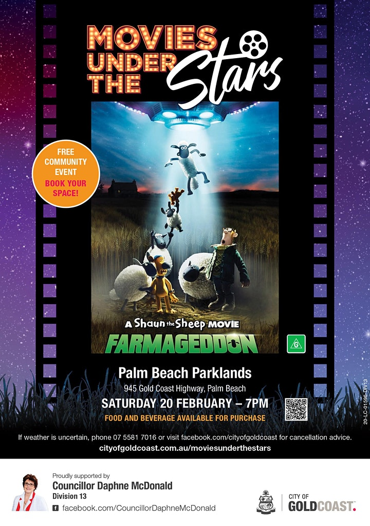 Movies Under the Stars:  Shaun the Sheep: Farmageddon, Palm Beach - Free image