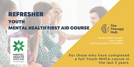 Youth Mental Health First Aid  REFRESHER Melbourne tickets