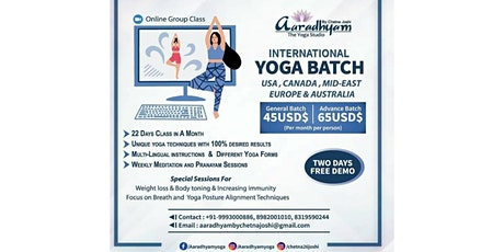 Online Yoga Classes tickets