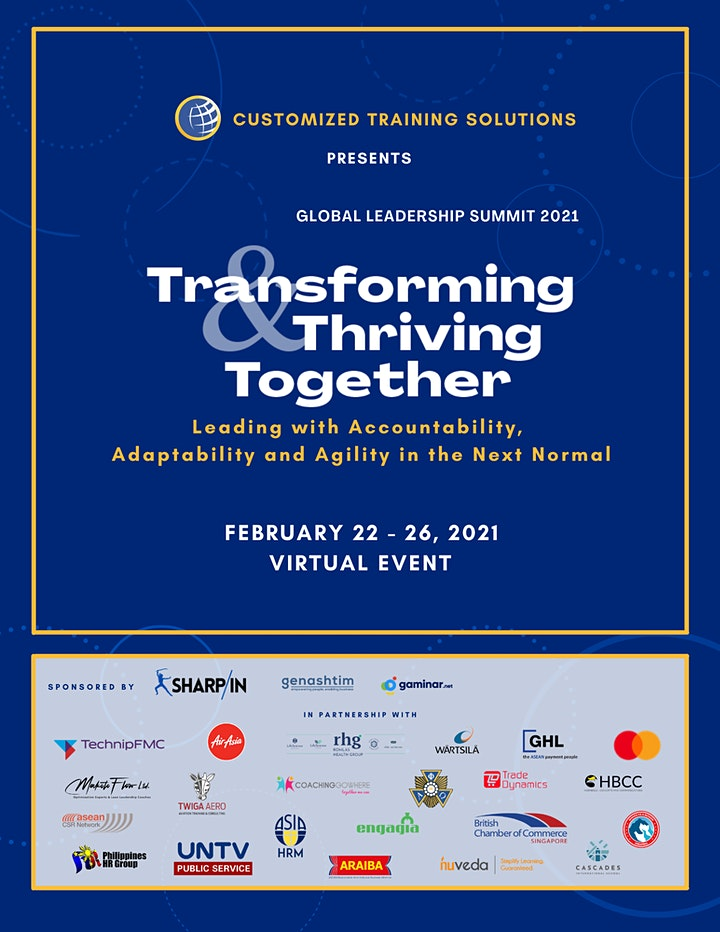 Global Leadership Summit: Transforming and Thriving Together image