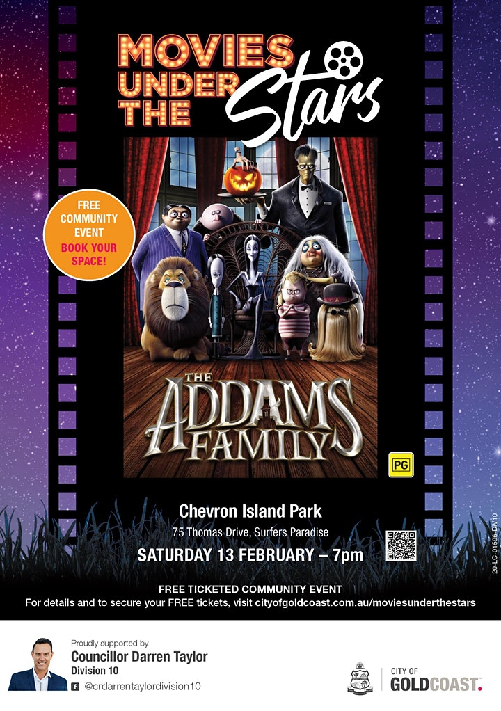 Movies Under the Stars:  The Addams Family, Surfers Paradise - Free image
