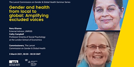 Gender and health from local to global: Amplifying excluded voices tickets