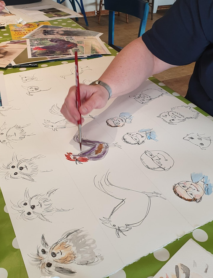 Quentin Blake style pen & ink illustrations Class image