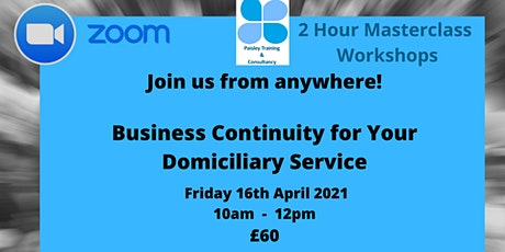 Business Continuity for Your Domiciliary Service tickets