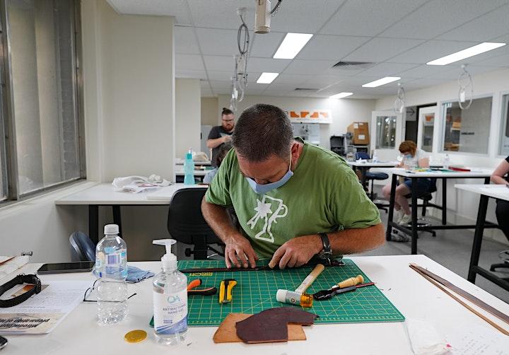 Introduction to Leatherwork Dog Collar workshop with Alison Berton image