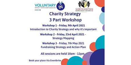 Charity Strategy - 3 Part Workshop - Northampton Groups tickets