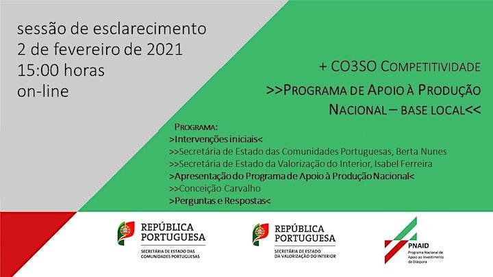 """imagem Sessão de esclarecimento """"Programa de Apoio à Produção Nacional"""""""