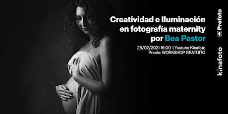 Workshop Bea Pastor: Creatividad e iluminación. Maternidad en estudio entradas