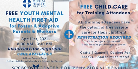 Youth Mental Health First Aid for Foster/Adoptive Parents & Workers tickets