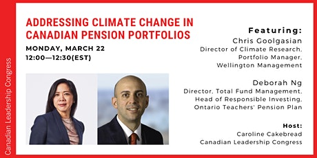 Monday Minute Live Chat—Climate Change in Canadian Pension Portfolios tickets