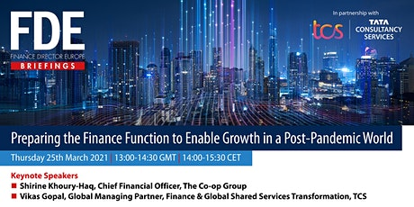 Preparing the Finance Function to Enable Growth in a Post-Pandemic World tickets