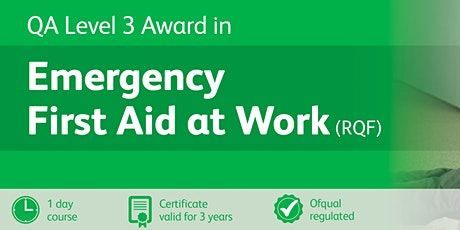 Emergency First Aid at Work Level 3 (RQF) tickets