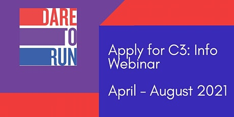 Apply for Cohort 3: Monthly Info Webinar: April 2021 biglietti