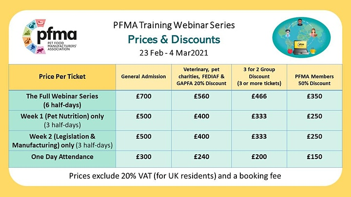 PFMA Training Series: Pet Food & Nutrition (Day Only Tickets) image