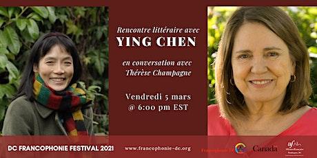 Rencontre littéraire avec Ying Chen tickets