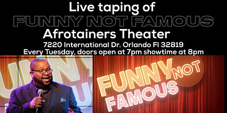 "Live TV Taping of ""FUNNY NOT FAMOUS"" stand up comedy show with James Yon tickets"
