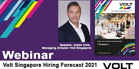 Volt Singapore Salary and Contractor Rates Guide 2021 Insights Webinar tickets