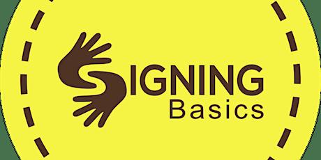 Signing Basics: ASL Sign Language Course tickets