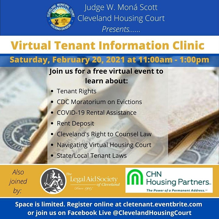 Cleveland Housing Court's: Virtual Tenant Information Clinic image