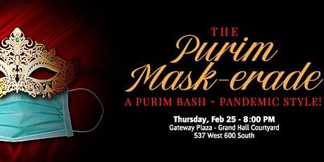 The Purim Mask-erade tickets